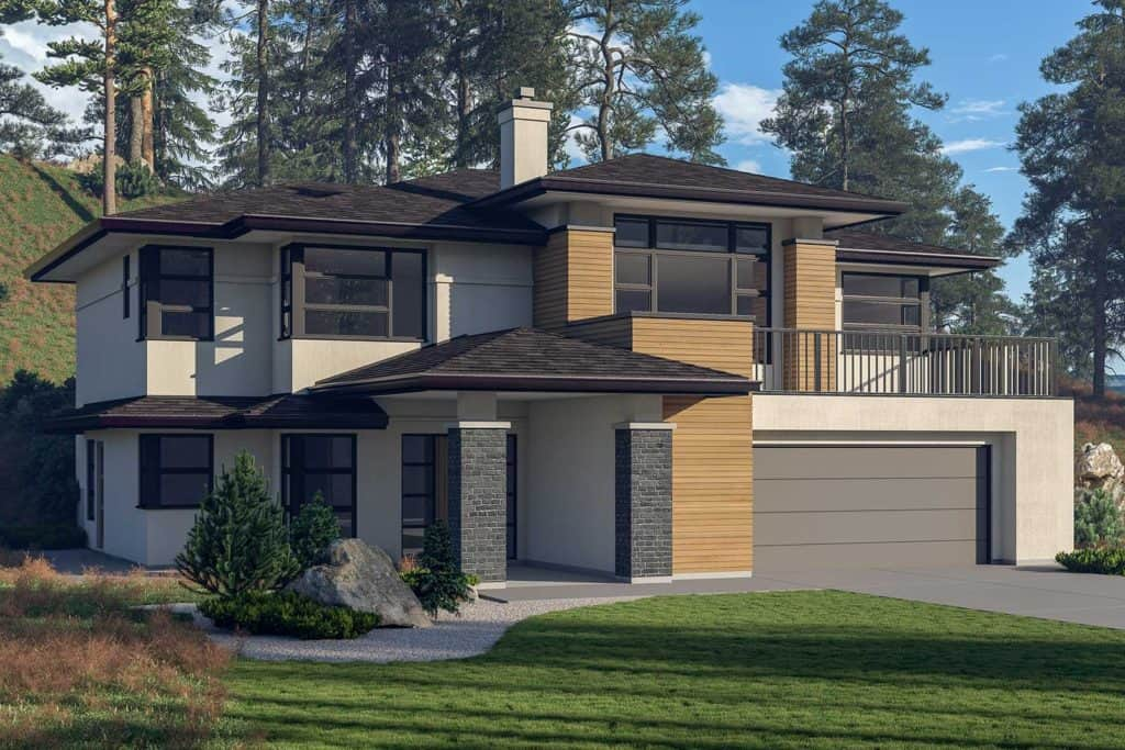 Wilden new home designs plans okanagan modern for Up slope house plans