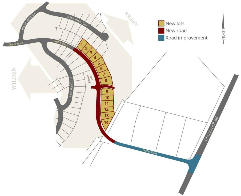 Begbie Road Extension Map