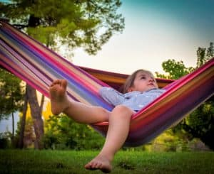 Independence in Children, child in hammock image