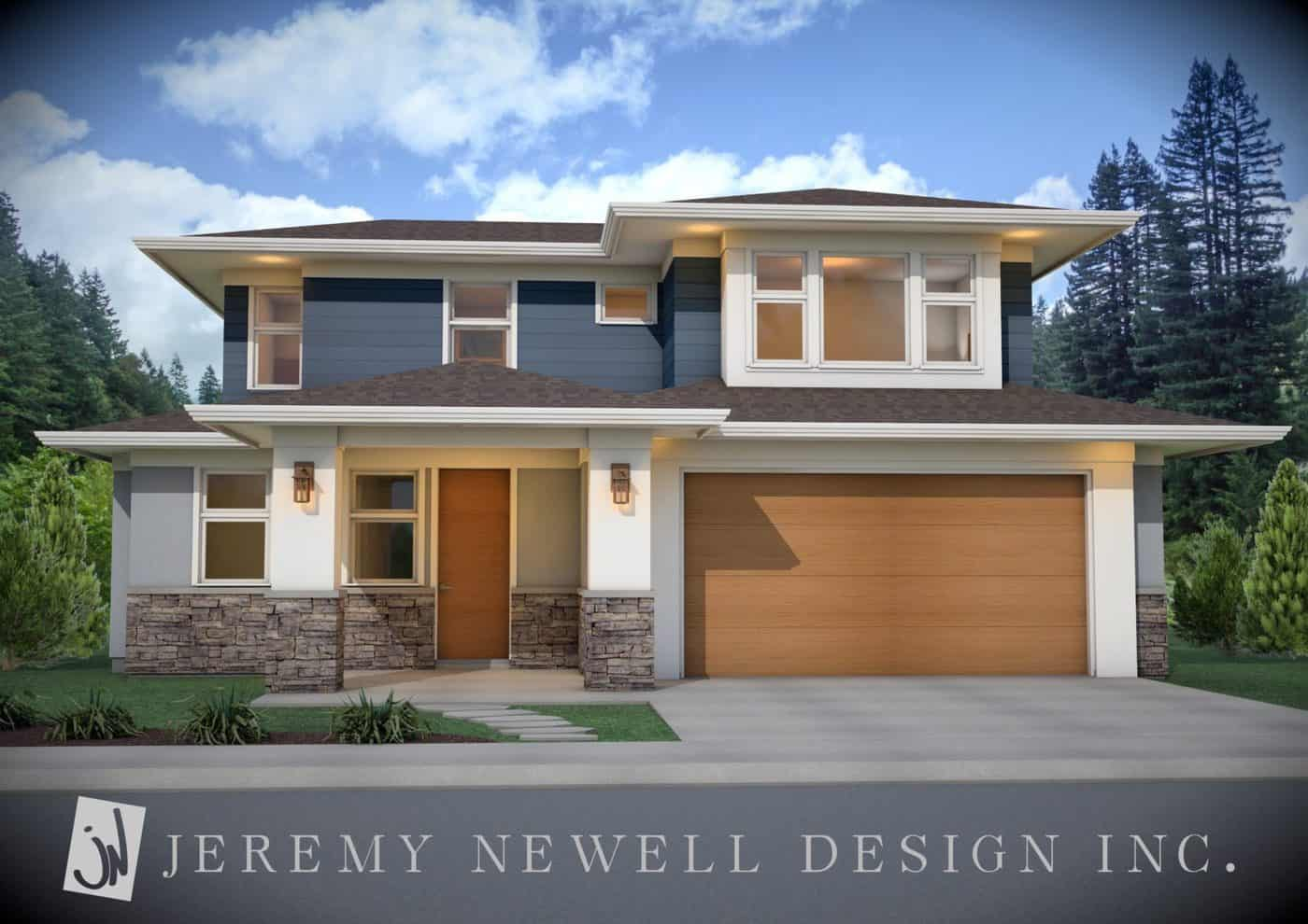 Okanagan modern 1 1 2 storey home by jeremy newell 5 for Estate home designs
