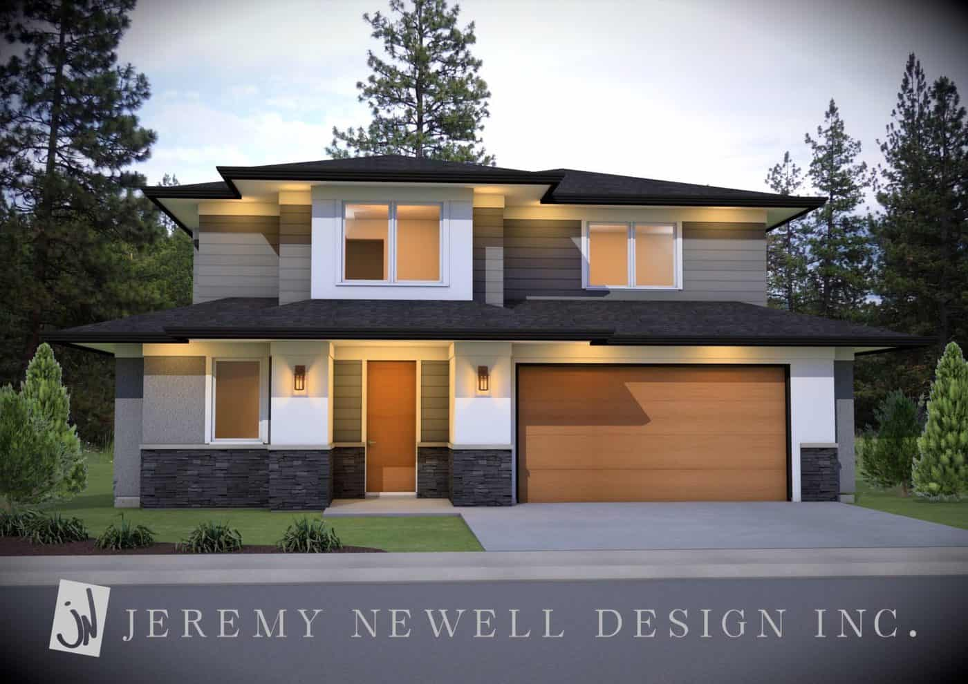 Okanagan modern 1 1 2 storey home by jeremy newell 6 for Small house design kelowna