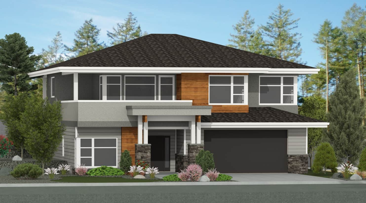 Okanagan modern uphill home by lee mullins c wilden for Up slope house plans